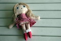 Bambola fatta a mano Fotografia Stock