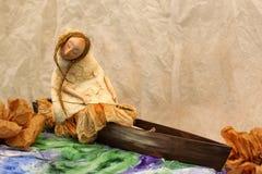 Bambola fatta a mano espressiva Fotografia Stock
