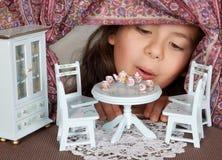 Bambola \ 'finestra della casa di s Fotografia Stock Libera da Diritti