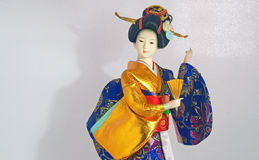 Bambola giapponese del geisha Fotografie Stock