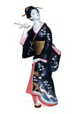 Bambola giapponese di Hakata Immagine Stock Libera da Diritti