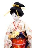 Bambola giapponese tradizionale del geisha Fotografie Stock