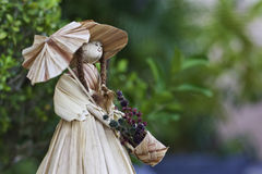 Bambola Handmade della paglia Fotografia Stock