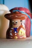 Bambola messicana verniciata del segnalatore acustico Fotografie Stock Libere da Diritti