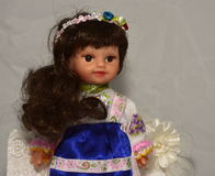 Bambola nel costume nazionale Fotografia Stock Libera da Diritti