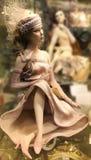 Bambola nella finestra Fotografia Stock Libera da Diritti