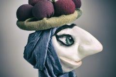 Bambola orientale di stile con il grande naso Fotografie Stock Libere da Diritti