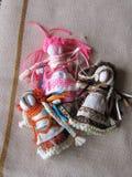 Bambola piega fatta a mano ucraina Immagini Stock