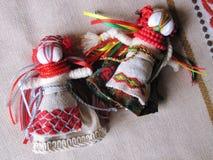 Bambola piega fatta a mano ucraina Fotografia Stock
