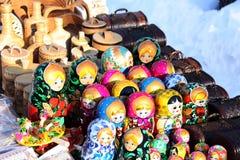 Bambola piega russa di Matryoshka Fotografie Stock Libere da Diritti