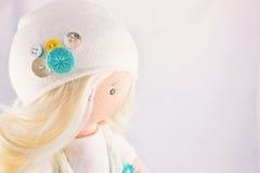 Bambola raccoglibile fatta a mano Fotografia Stock Libera da Diritti
