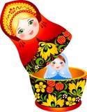 Bambola russa di matryoshka di tradizione Fotografia Stock