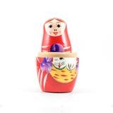 Bambola russa rossa Fotografia Stock