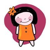 Bambola sorridente Fotografia Stock Libera da Diritti