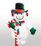 Bambola sveglia del pupazzo di neve Fotografia Stock
