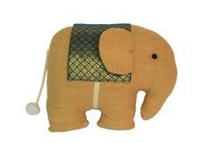 Bambola tailandese del panno dell'elefante di stile Immagini Stock Libere da Diritti