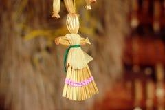 Bambola tradizionale bielorussa della paglia Fotografie Stock Libere da Diritti