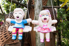 Bambole al forno dell'argilla Fotografia Stock Libera da Diritti