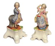 Bambole antiche della porcellana Fotografia Stock