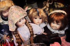 Bambole ceramiche d'annata Fotografia Stock Libera da Diritti