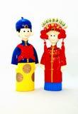 Bambole cinesi della sposa e dello sposo fotografia stock