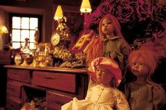 Bambole commerciali antiche fotografie stock