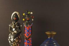 Bambole decorative e fatte a mano Fotografie Stock