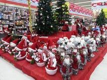 Bambole del pupazzo di neve e di Santa Immagini Stock