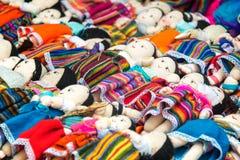 Bambole del ricordo in Otavalo Immagine Stock