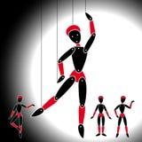 Bambole del teatro sui fili Fotografie Stock Libere da Diritti