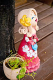 Bambole dell'argilla. Fotografie Stock