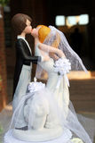 Bambole della torta di cerimonia nuziale Fotografia Stock