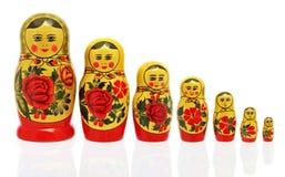 Bambole di Babushka Fotografia Stock Libera da Diritti