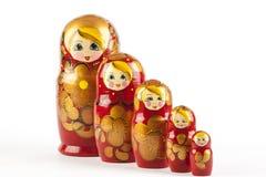 Bambole di babushkas o di Matrioshka Immagine Stock Libera da Diritti