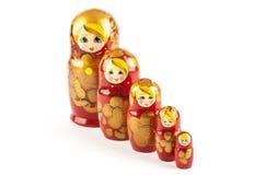Bambole di babushkas o di Matrioshka Fotografia Stock Libera da Diritti