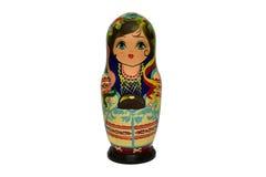 Bambole di babushkas o di Matrioshka su un fondo bianco Immagine Stock Libera da Diritti