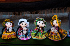 Bambole di Beautifull dal Perù Immagine Stock