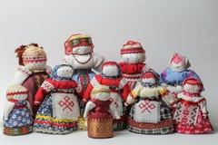 Bambole di Bereginya - bambole fatte a mano fotografia stock