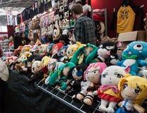 Bambole di cosplay su esposizione alla convenzione di Festival del Fumetto a Milano, Italia Fotografie Stock Libere da Diritti