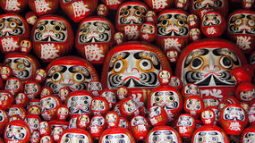Bambole di Daruma del tempio di Katsuoji nel Giappone immagine stock libera da diritti