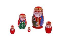 Bambole di Matryoshka di Natale Fotografia Stock Libera da Diritti