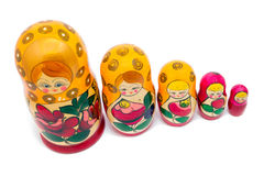 Bambole di matryoshkas o di Babushkas Immagine Stock