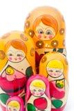 Bambole di matryoshkas o di Babushkas Fotografie Stock