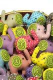 Bambole di pezza dell'elefante Fotografie Stock Libere da Diritti