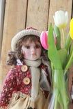 Bambole e fiori immagini stock libere da diritti