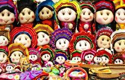 Bambole peruviane fatte a mano, Cuzco, Perù fotografia stock
