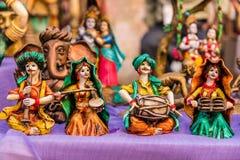 Bambole pieghe miniatura del musicista Fotografia Stock Libera da Diritti