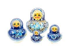 Bambole russe blu Fotografie Stock