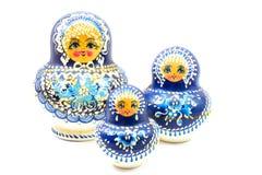 Bambole russe blu Immagini Stock Libere da Diritti