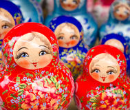 Bambole russe di incastramento Fotografia Stock